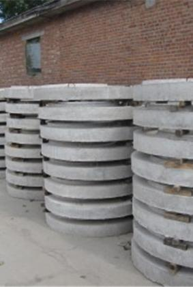 圆形预制盖板成品场区